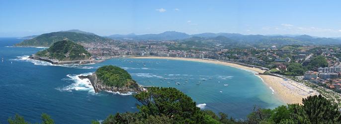 Donostia-San Sebastián LA CONCHA 海滩